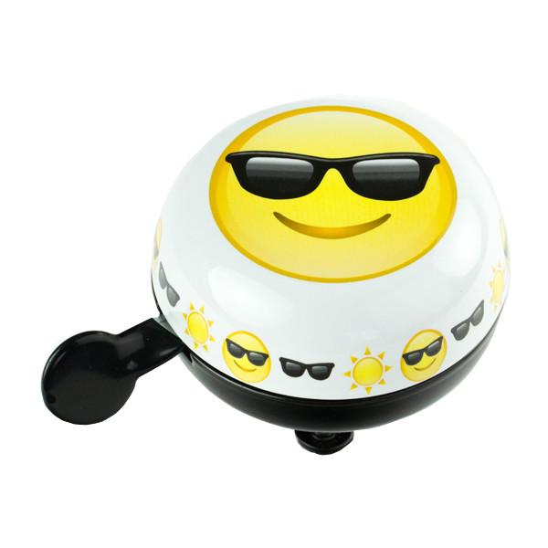 Widek fietsbel Emoticon Sunglasses 80 mm wit/geel