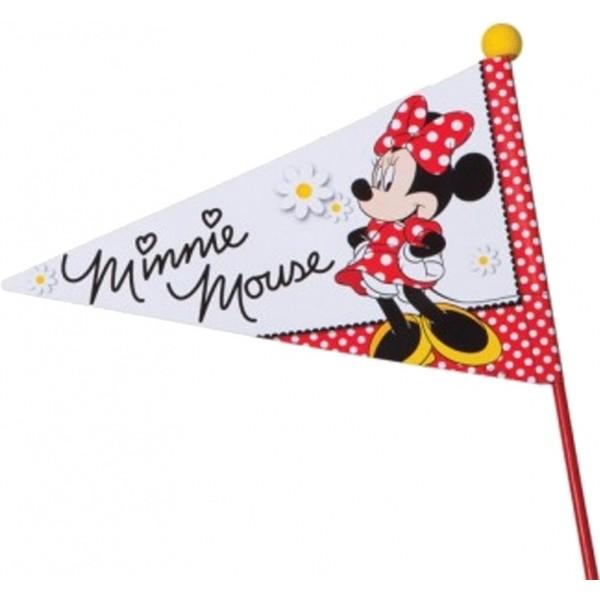 Widek fietsvlag met rode stok Minnie Mouse deelbaar rood/wit Onderdelen & Accessoires aanschaffen doe je het voordeligst hier