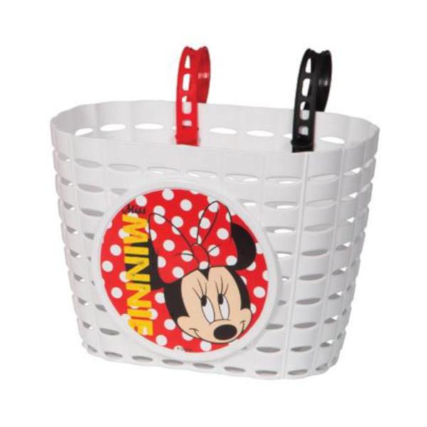 Widek kinderfietsmand Minnie Mouse meisjes 3,5 liter wit