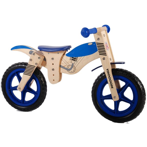 Yipeeh houten loopfiets 12 inch blauw