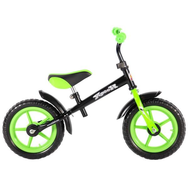 Yipeeh Loopfiets 12 inch Zwart groen
