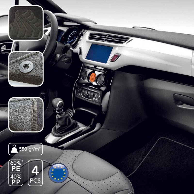 Car Plus Pasklare Mattenset Mercedes Benz C Klasse 2013 Zwart