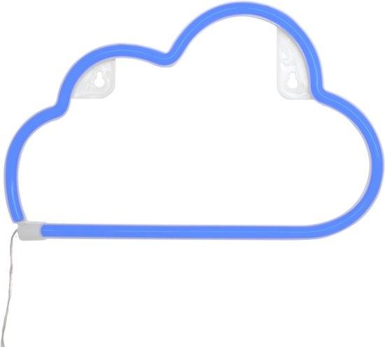 dresz neon led verlichting wolken 30 cm blauw
