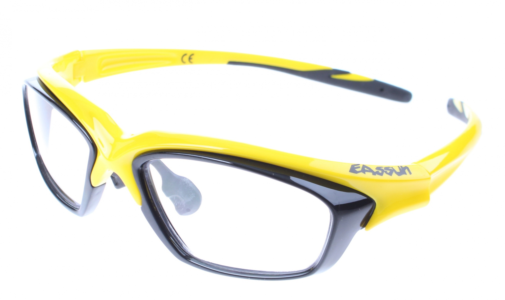 Eassun bicycle glasses RX clear glass frame yellow / black - Giga ...