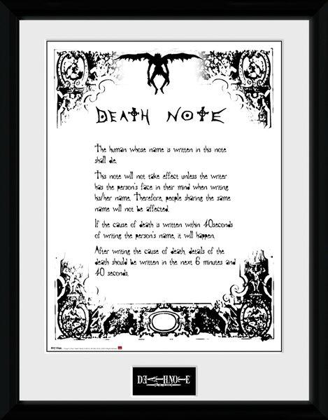 Gb Eye Poster In Frame Death Note 30 X 40 Cm Giga Bikes Tilburg