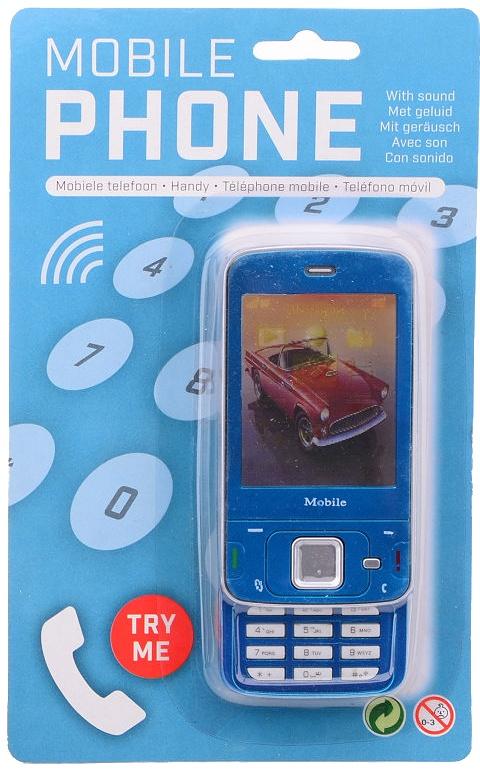 71f72f0624c mobiele speelgoed telefoon blauw 13 x 5.5