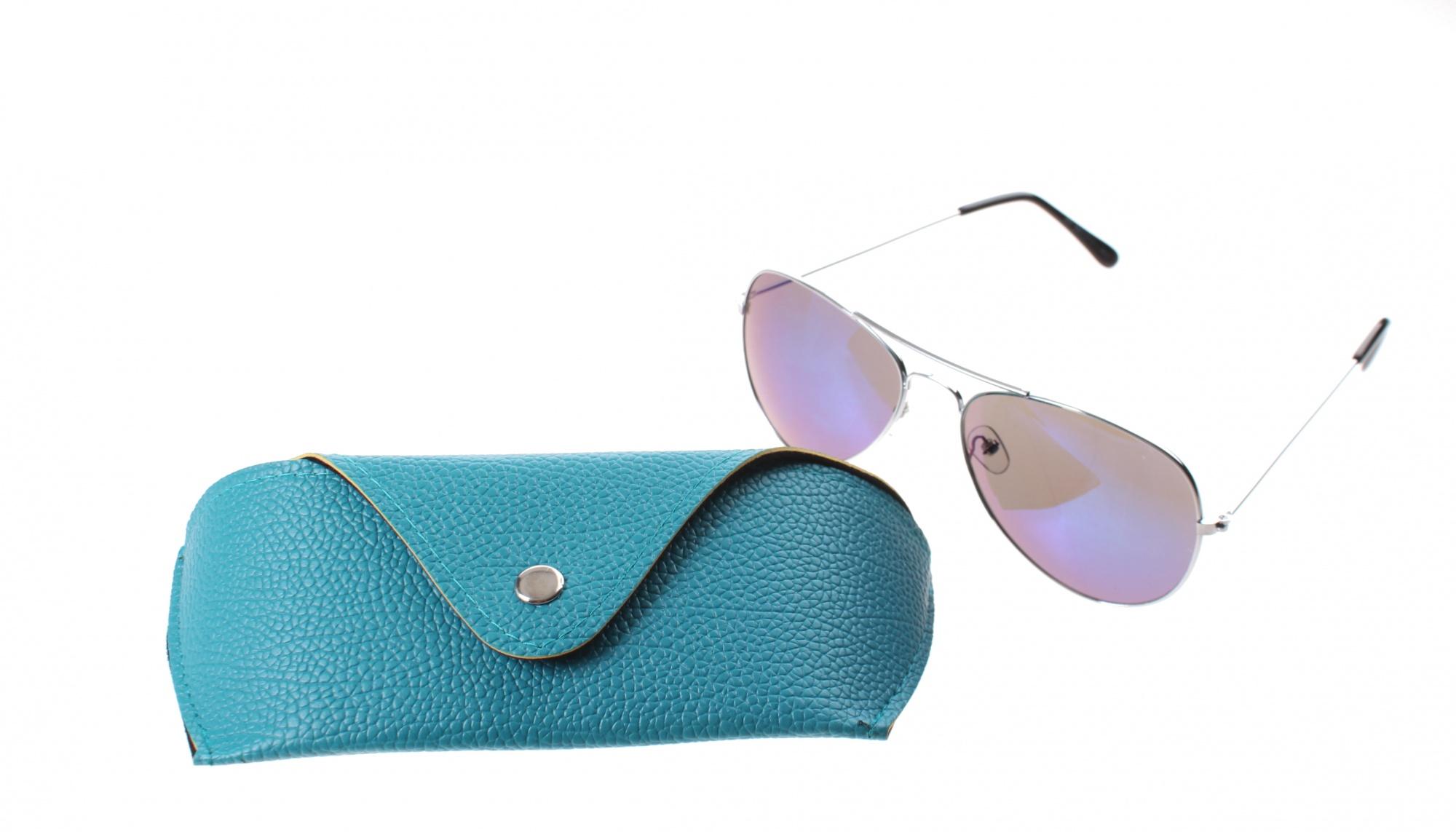 6ff1d98beb1663 Lifetime-Vision zonnebril unisex zilver met blauwe spiegellens ...