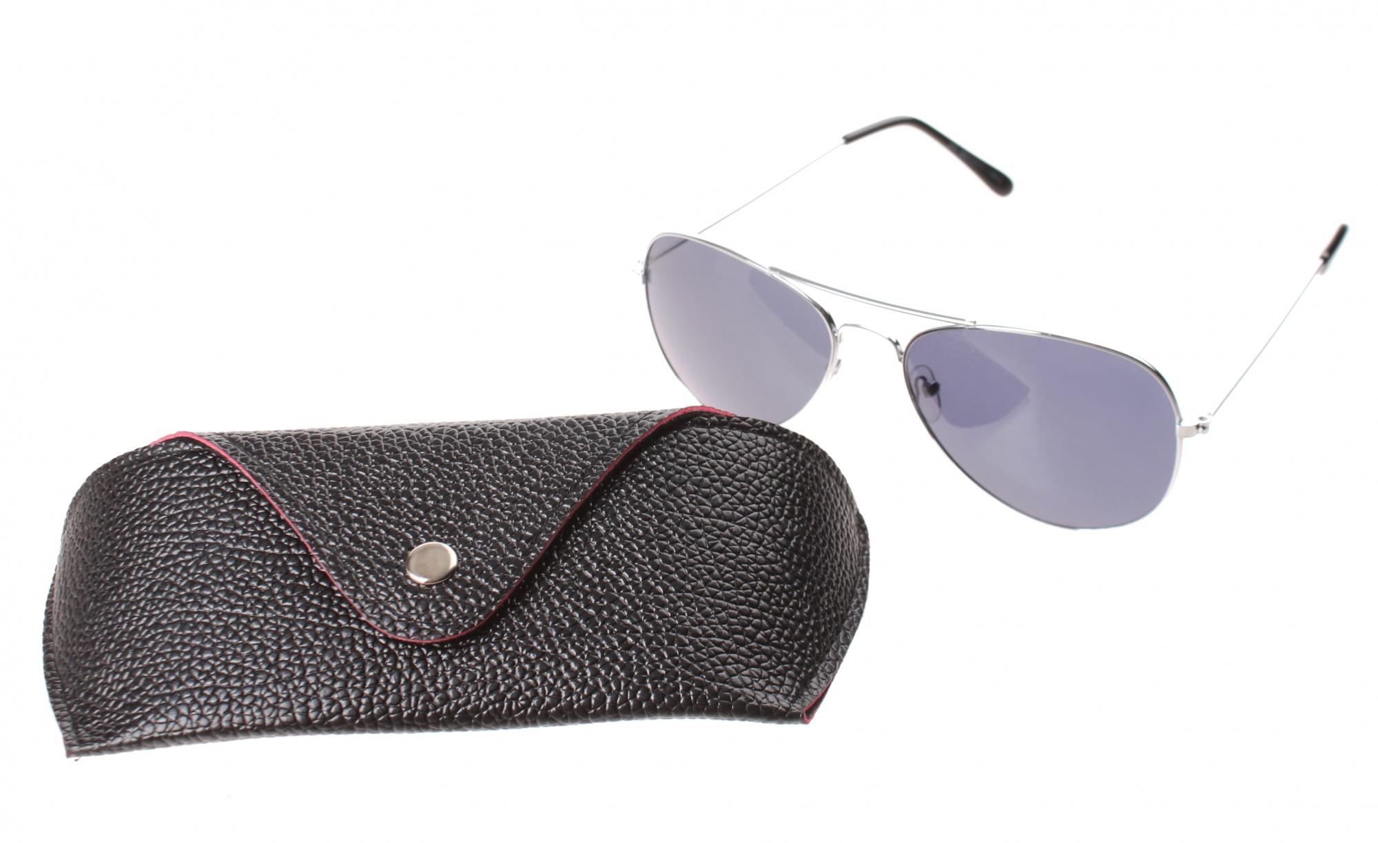 44957f16e96d4e Lifetime-Vision zonnebril unisex zilver met zwarte lens - Giga-Bikes ...