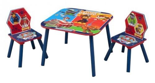 Tafel Met Stoelen : Nickelodeon paw patrol tafel stoelen set blau rot giga bikes
