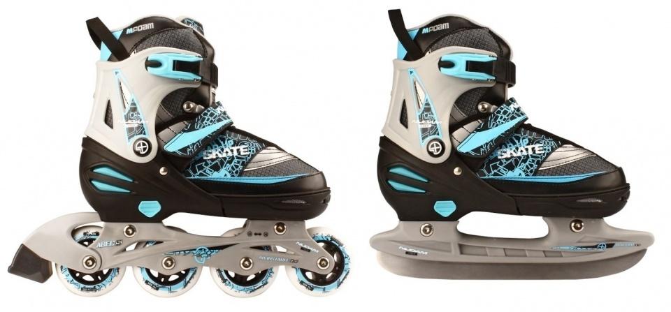 96f73915b4f Nijdam Skate/schaats combo junior zwart/blauw - Giga-Bikes Tilburg