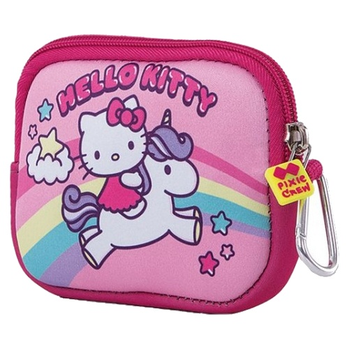 efc1c2433 Free bracelet Pixie crew bag with silicone panel Hello Kitty 15 cm pink