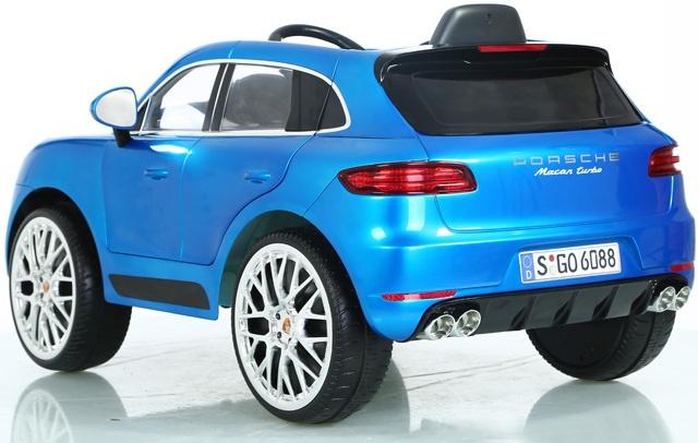 Rollplay Porsche Macan Turbo Accuvoertuig 6 Volt Blauw Giga Bikes