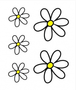 TOM fietsstickers Kit Flowers wit