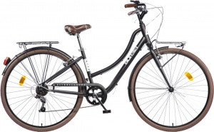 Aurelia Smart City 28 Inch Dames 6V V-Brake Zwart
