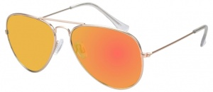6efb652849 AZ-Eyewear sunglasses unisex gold with yellow mirror lens (17-607 P)