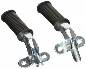 Bicycle Gear Voetsteunen Set Anti-Slip Zwart