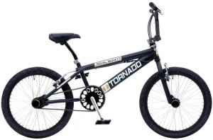 Bike Fun Tornado 20 Inch Unisex V-Brake Matzwart