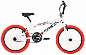 Bike Fun Tornado 20 Inch Unisex V-Brake Wit/Rood