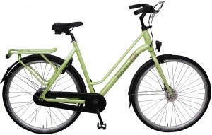 Bikkel Luminous 28 Inch Dames 7V Rollerbrake Lime