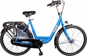 Burgers ID Personal 26 Inch Dames 3V Rollerbrakes Blauw