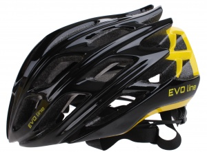 Cycle Tech helm unisex zwart/geel