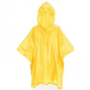 Free and Easy regenponcho junior one size geel