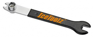 IceToolz pedaal- en Dopsleutel 34A2 10-15 / 14-15 mm staal zwart