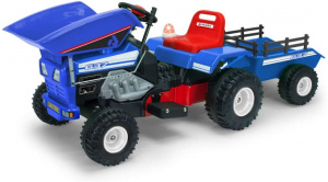 Injusa accuvoertuig tractor Dump Track 6V 145 cm blauw