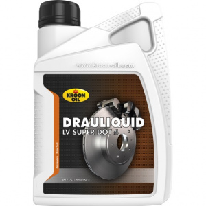 Kroon Oil remvloeistof Drauliquid-LV Super DOT4 1 liter (33820)