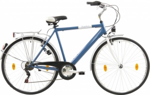 Leader City Voyager-S 28 Inch Heren 6V V-Brake Blauw