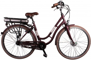 Leader Traveler 28 Inch Dames 7V V-Brake Bordeaux