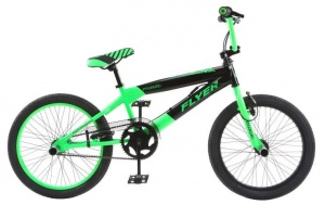 Magic BMX Fiets Flyer 20 Inch Unisex V-Brake Groen/Zwart