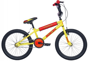 Magic BMX Kick 16 Inch 25,4 cm Junior Knijprem Geel/Rood