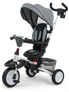 Milly Mally buggy/driewieler Stanley 109 cm polyester grijs/zwart