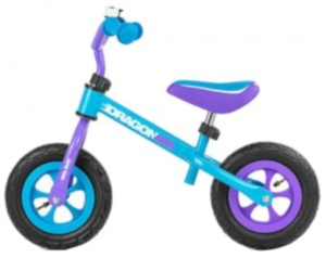 Milly Mally loopfiets Dragon Air 10 Inch Junior Blauw/Paars