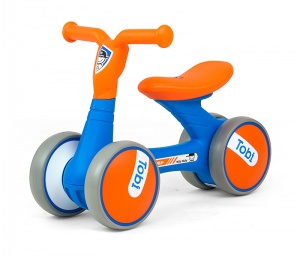Milly Mally Loopfiets Tobi Junior Blauw/Oranje
