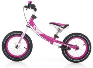 Milly Mally loopfiets Young 12 Inch Junior Knijprem Roze