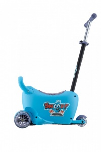 Milly Mally Snoop! 3-in-1 loopwagen en step blauw