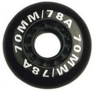5d080c3b74c Nijdam Wielen Voor Inline Skates Zwart 70x25 mm Per 4 Stuks