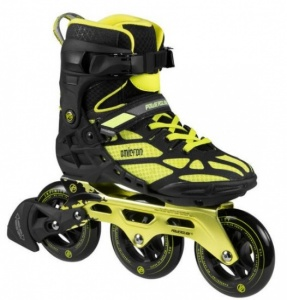 fba15f3c9cd Powerslide Inline Skates Omicron 3-wheel black / yellow