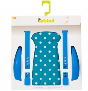 Qibbel Luxe Stylingset Fietszitje Achter Polka DOT Blauw