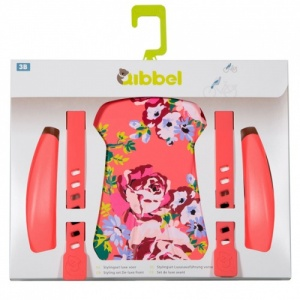 Qibbel Stylingset Luxe Fietszitje Voor Blossom Roses Coral