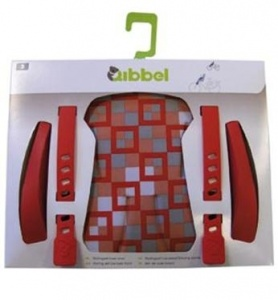 Qibbel Stylingset Luxe Fietszitje Voor Checked-Red