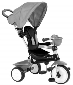 QPlay Comfort 4-in-1 driewieler Junior Grijs