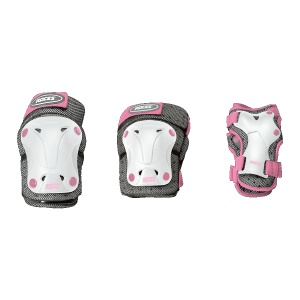 fbfb876d116 Roces Protective set 3-piece girls white / gray / pink