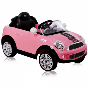 Rollplay Mini Cooper S Coupe RC accuvoertuig 6V roze