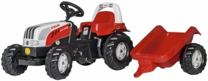 Rolly Toys traptractor RollyKid Steyr 6165 CVT junior rood/wit-S