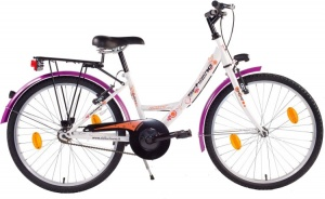 Schiano Fantasty 26 Inch Dames V-Brake Wit/Paars