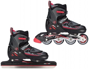 902343b9c70 Nijdam skate/skate combination junior black/red