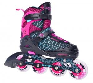 5c6f5bd3f90 Tempish inline skates Nerrow 4 junior black / pink